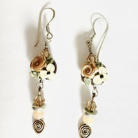 Gorgeous Vintage, Elegant, BoHo, Gypsy,  Silver French Hook Earrings With Sparkle and Great Movement