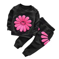 Children Clothes 2018 Autumn Winter Baby Girls Clothes T-shirt+Pants 2pcs Outfit Kids Clothes Sport Suit For Girls Clothing Sets