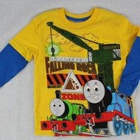 Thomas  Friends Falling Rock Blue Toddler Boys Tee Shirt Top Size 4T