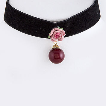 Pink Killarney Rose Chocker Necklace