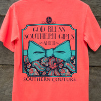 God Bless Southern Girls Tee   Southern Couture