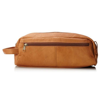 Peanut Butter Tan Leather Toiletry Bag
