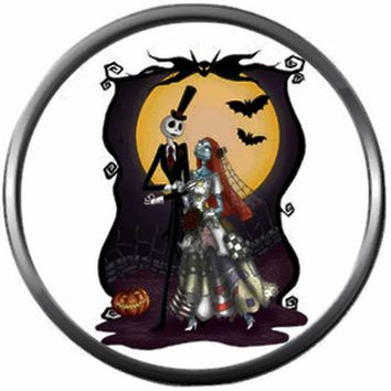 Wedding Jack Skellington And Sally Halloween Town Nightmare Before Christmas 18MM - 20MM Snap Jewelry Charm