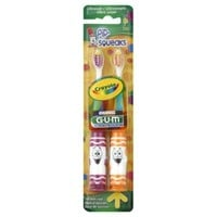 Sunstar GUM® Crayola® Pip-Squeaks 2-Pack Toothbrushes