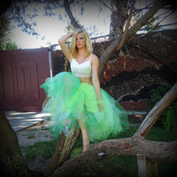 Adult tutu, green mint , tea length tutu, sewn tutu, tinker bell tutu, rave raver tutu, wedding bridal tulle skirt, prom tutu skirt