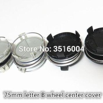CREYLD1 4pcs 75mm Silver,black B FOR BRABUS Wheel Center Hub Caps Emblem Car LoGo FOR B W210 W221 W220 W163 W164 W203 W204 CLS SLK GLK