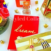 Styled Photography featuring Tory Burch, Dream Journal, and Flowers