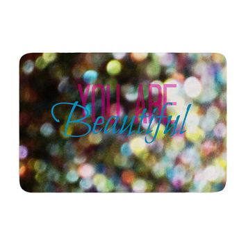 "Robin Dickinson ""You Are Beautiful II"" Art Object Memory Foam Bath Mat"