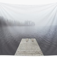 'Fading into the mist' Wall Tapestry by happymelvins