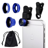 Universal 3 in 1 Cell Phone Camera Lens Kit for Smartphones