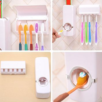 Automatic Toothpaste Dispenser Bathroom Set