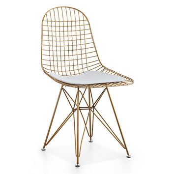 Chair In White and Gold, Set Of Two