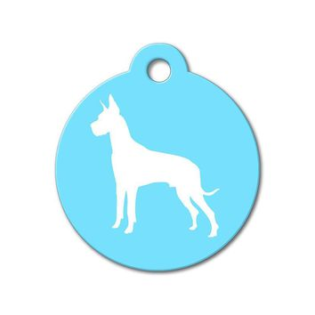 Great Dane - Silhouette Pet Tag