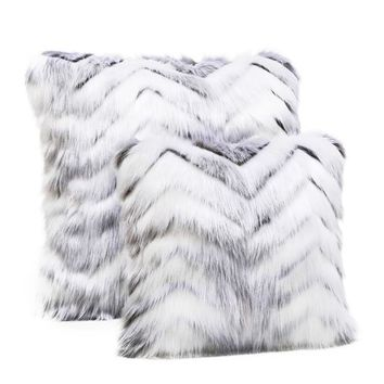 Crystal Fox Limited Edition Faux Fur Pillows | Fabulous Furs