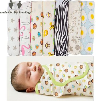 New 100% Cotton Baby Swaddle Infant Sleepsacks Newborn Wrap Receiving Blankets for Newborns Baby Products Blankets&Swaddle S ,L