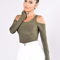 Seduction Bodysuit - Olive