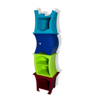 Tanzschrank - Tower - Adjustable shelves