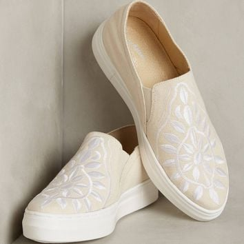 Seychelles Embroidered Canvas Sneakers