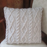 READY TO SHIP   Diamonds and Cable hand knit by LadyshipDesigns