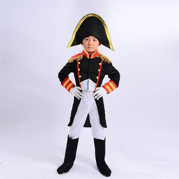 Cosplay Halloween Children Kid Pirate Set Garmen Contain Hat  Clothes  Boots  Gloves Dress Up Party Costume