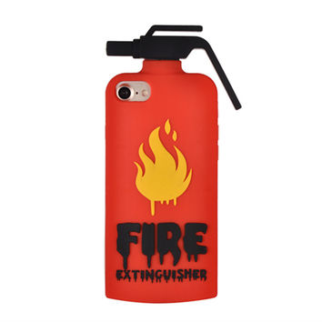 "Cute 3D Cartoon Fire extinguishers Pattern Soft Silicone Case For iPhone 7 7 Plus 5.5 inch 4.7"" Phone Back Cover"