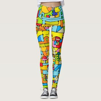 Color puzzle leggings