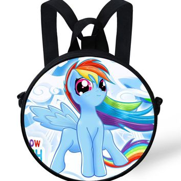 9-Inch My Little Pony Bag For School Backpack For Girls Birthday Gifts For Children Cartoon School Bags For Kids 1-5Years Old