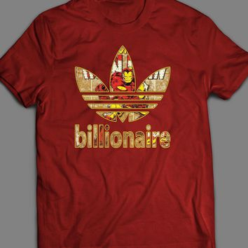 MARVEL'S IRON MAN BILLIONAIRE COMIC BOOK ART SPORT T-SHIRT