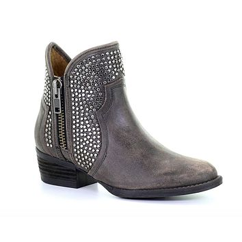 Circle G by Corral Black Studs Ankle Boots