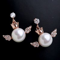 Baby Angel Pearl Earrings