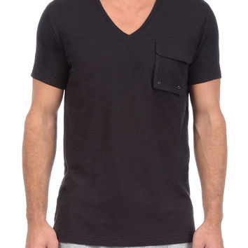 2(x)ist Men's V-Neck Slub T-Shirt - Black -