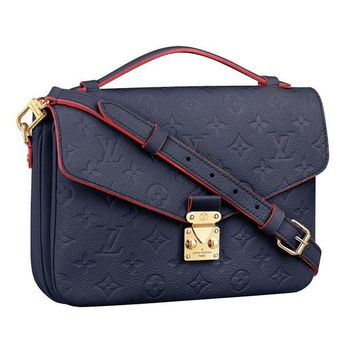 VONW3Q Louis Vuitton Monogram Empreinte Leather Pochette Metis Handbag Article: M44071 Made in France