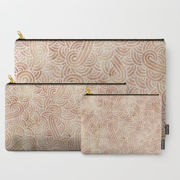 Iced coffee and white zentangles Carry-All Pouch by Savousepate