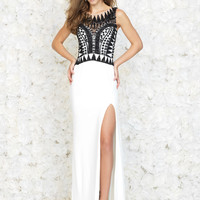 Aztec Beaded Madison James Prom Gown 15-134