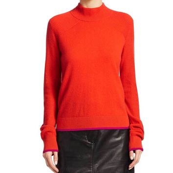 Rag & Bone Yorke Red Cashmere Turtleneck Sweater