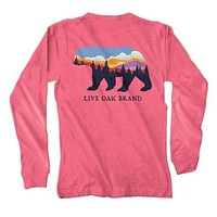Landscape Bear Long Sleeve Tee in Crunchberry by Live Oak
