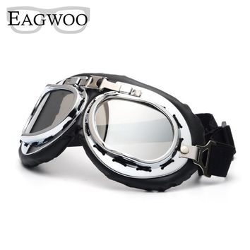 Eagwoo Summer Vintage Motorcycle Goggles Retro Punk Gothic Goggles Harley style Protection Glasses Windproof Sunglasses