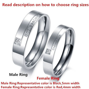 "New Trending Couples Jewelry 1PCS Men's OR Women's 316L Stainless Steel "" Endless Love"" Rings, Unique Couples Wedding Band Ring ,Silver ,From Milkle Gift = 1929757124"