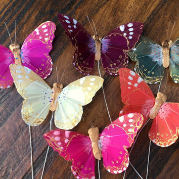 One Dozen 3-inch Elegant Butterflies - Perfect for Garden Weddings, Showers, and Springtime Decorations