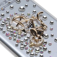 MyBat Gold Mountain Bicycle Crystal 3D Diamante Back Protector Cover with Package for iPod touch 5
