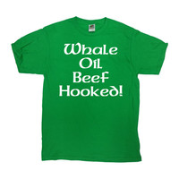 Funny St Patricks Day Shirt Drinking T Shirt St Pattys Day Outfit Saint Patricks Day Party Whale Oil Beef Hooked Mens Ladies Tee - SA752