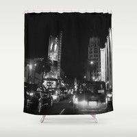 Hollywood at  night Shower Curtain by Marianna Tankelevich