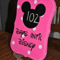 Days Until Disney - Countdown Plaque with stand