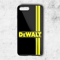 Special! Dewalt Logo Yellow Stripe Cover For iPhone 7 7+ Hard Plastic Case
