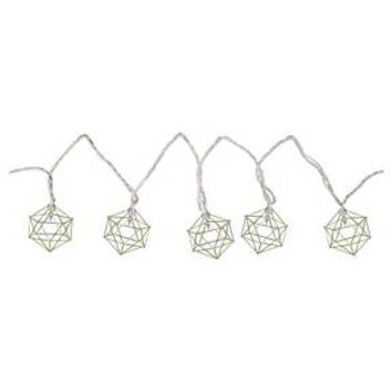 Threshold™ Geometric Prism String Lights - Brass