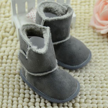 Fall Newborn Infantil Baby Boys Girls Shoes Soft Sole Booties Infant Baby Shoes First Walker 3 Colors NW