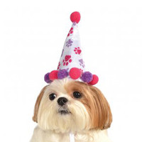 Paw Print Girl Birthday Dog Hat