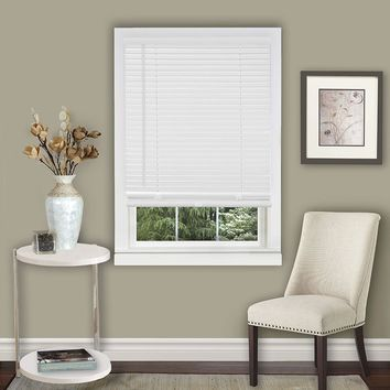 Amanecer Collection Cordless Vinyl 1-Inch Light Filtering Mini Blind