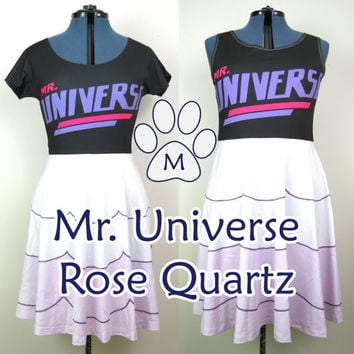 SALE Rose Quartz Universe (SU) Skater Dress