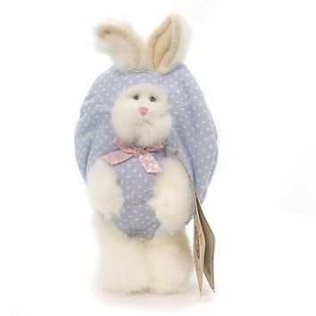 Boyds Bears Plush HIP BLUE POLKA DOT PEEKER Easter Rabbit Egg 904425 Rfb